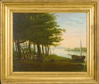 picnic on long island sound by john sherburne blunt
