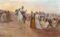 verkauf von sklavinnen in der wüste by otto pilny