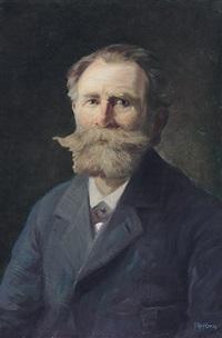 portrait eines bärtigen herren by alfred renz