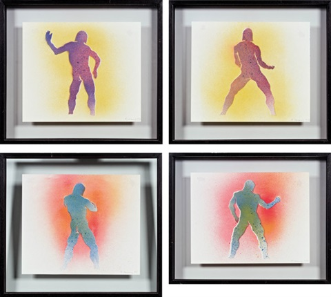 figuren in bewegung 4 works by maria lassnig