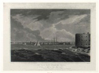 new york from governors island, pl.20 by john hill