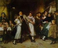 der widerwillige tänzer (kirmesszene) by otto edmund gunther