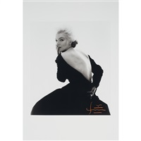 marilyn monroe in a black dress (from the last sitting for vogue) by bert stern