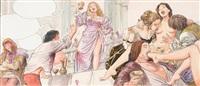 illustration couleur pour borgia by milo manara