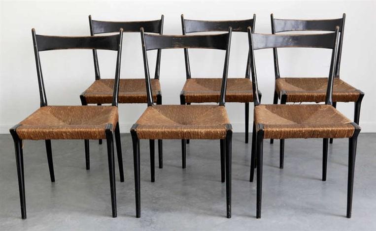 Serie De Six Chaises De Salle A Manger Modele S2 Set Of 6 By Alfred