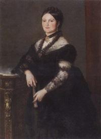 bildnis einer dame in schwarzem spitzengewand by wilhelm heinrich fussli
