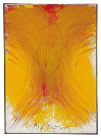 fingermalerei gelb (mit rot) by arnulf rainer