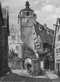postkutsche in der altstadt by paul götz-racknitz