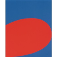 red/blue (from the portfolio ten works by ten painters) by ellsworth kelly