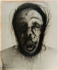 blick als maske (selbstporträt) by arnulf rainer