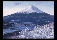 mt. fuji at the dawn by hiroshi higuchi