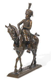 a mounted hussar by pierre nicholas tourgueneff