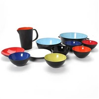 krenit saucepans, bowls and a pitcher (11 works) by herbert krenchel