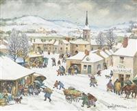 winterliche stadtansicht by paul lemasson