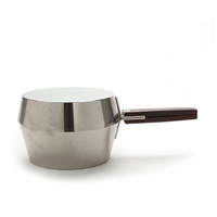 saucepan in two pieces with lid in the shape of frying pan by magnus læssoe stephensen