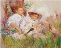 young couple on a grassy knoll by paul rouwette