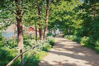 sunlit landscape by johan fredrik krouthen