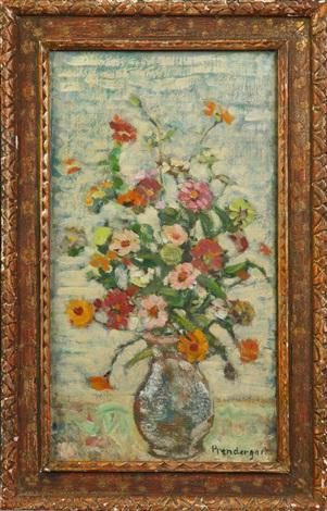 flowers still life by maurice brazil prendergast