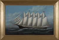 the schooner jennie r. dubois, captain e.m. smeed by solon francis montecello badger