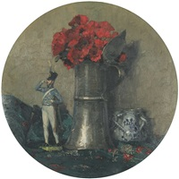 stilleben (zinnkrug mit mohn) by hermann göhler