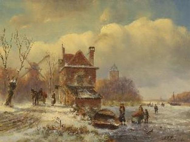 holländische winterlandschaft by a j eimer
