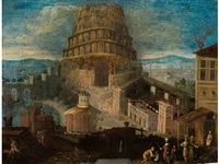 der turmbau von babel by joos de momper the younger