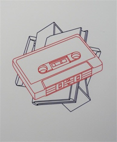cassette book canvas and drawer from the order of appearance suite 4 works by michael craig martin
