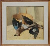 natura morta con uccelli by pietro dodero