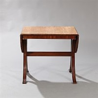 a solid mahogany drop leaf table by frits henningsen