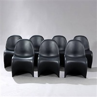 panton chair (set of 7) by verner panton
