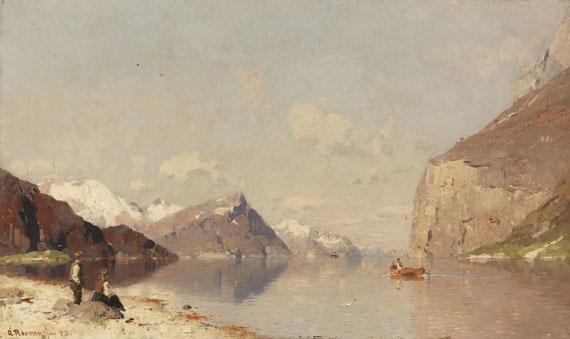 norwegische fjordlanschaft by georg anton rasmussen