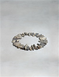 small basalt ring by richard long