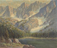 sierra lake, thought to be t.j. lake, mammoth by frederick carl smith