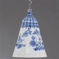 bell-shaped lampshade by bjørn wiinblad
