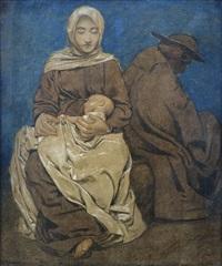 die heilige familie bei der ruhe auf der flucht by hans thoma