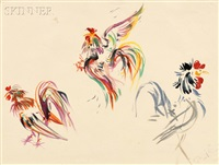 roosters by giovanni boldini
