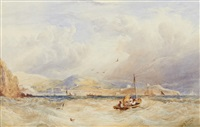 off teignmouth by copley fielding