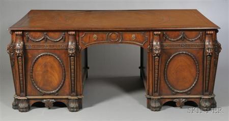 pedestal desk by thomas chippendale