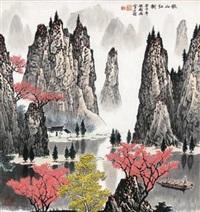 秋山红树 by bai qigang