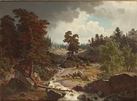 landskap med fors by carl frederik linge