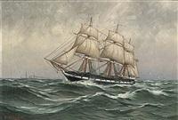 på stormigt hav by arvid magnus ahlberg
