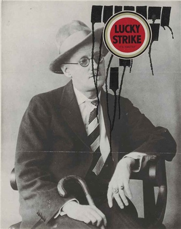 untitled james joyce lucky by ray johnson