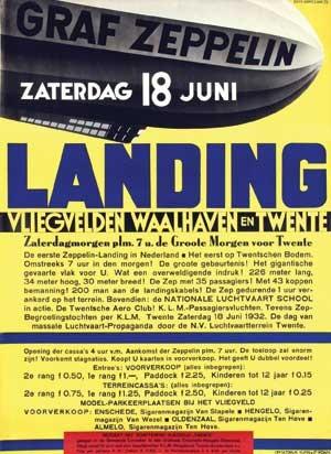 graf zeppelin vlieghaven waalhaven en twente de eerste zeppelin landing in nederland by kees van der laan