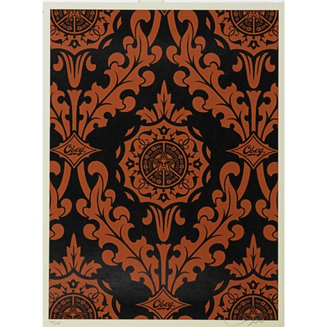 parlor patterns (2 works) by shepard fairey