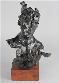 man with violin by david aronson