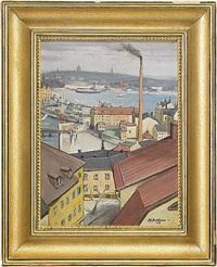 hustak i stockholm, vy mot slussen by carl einar (figge) fredriksson
