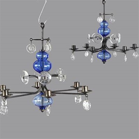 chandeliers pair by erik höglund