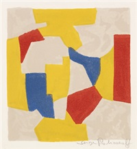 composition grise, jaune, rouge et bleue by serge poliakoff
