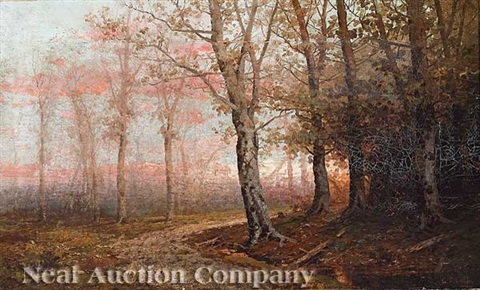 dark forest landscape by george ernest colby