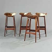 a set of four east indian rosewood bar stools by johannes andersen